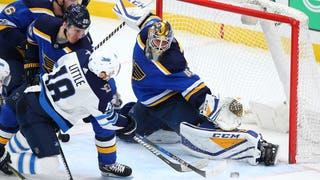 Carter Hutton: Blues' win 'set the tone' for home-and-home series with Jets