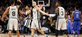 Spurs close on 13-0 run to rally past Mavericks, 98-96