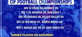 CIF-SS Division Finals: Saturday night's scores