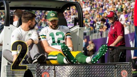 Aaron Rodgers breaks collarbone in Week 6 at Minnesota, returns in Week 15