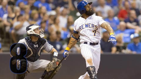 The Brewers' Eric Thames has record-setting April, hitting 11 home runs