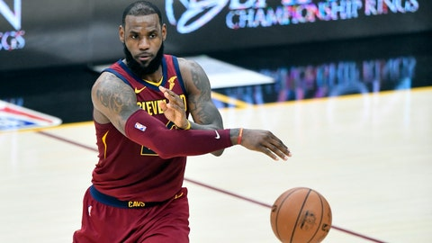 LeBron James assist short of triple-double in Cavs' win