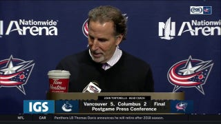 Torts talks 'funky second period, CBJ straightening things out after break