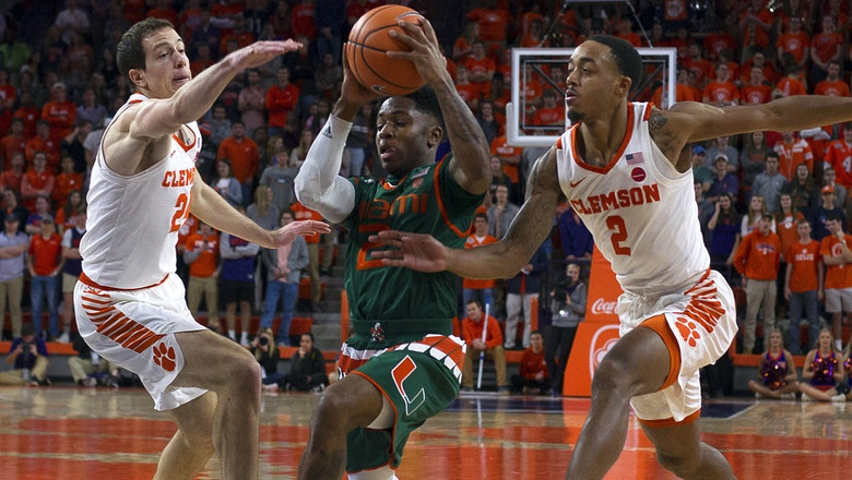 Miami overpowered by Clemson's 3-point barrage in road loss