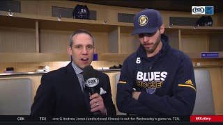 Edmundson on first period fight: 'That's hockey for ya'