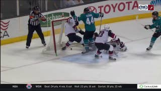 Highlights: Sharks win a wild one over Coyotes in OT