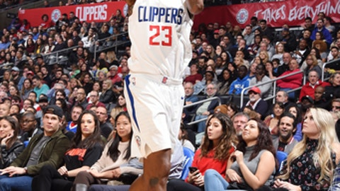 LOS ANGELES, CA - JANUARY 2: Lou Williams #23 of the LA Clippers shoots the ball during the game against the Memphis Grizzlies on January 2, 2018 at STAPLES Center in Los Angeles, California. NOTE TO USER: User expressly acknowledges and agrees that, by downloading and/or using this Photograph, user is consenting to the terms and conditions of the Getty Images License Agreement. Mandatory Copyright Notice: Copyright 2018 NBAE (Photo by Andrew D. Bernstein/NBAE via Getty Images)