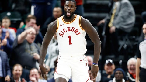 INDIANAPOLIS, IN - JANUARY 08:  Lance Stephenson #1 of the Indiana Pacers celebrates against the Milwaukee Bucks during the game at Bankers Life Fieldhouse on January 8, 2018 in Indianapolis, Indiana.    NOTE TO USER: User expressly acknowledges and agrees that, by downloading and or using this photograph, User is consenting to the terms and conditions of the Getty Images License Agreement.  (Photo by Andy Lyons/Getty Images)