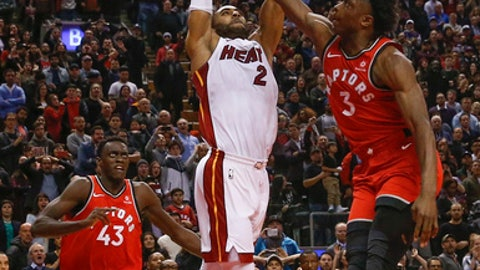 Raptors' Ibaka, Heat's Johnson suspended one game each for throwing punches