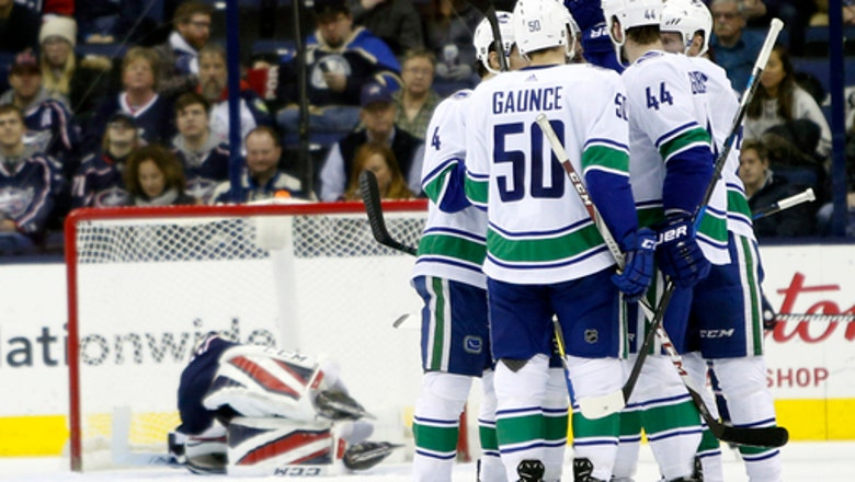 Canucks rally in the second period to beat Blue Jackets 5-2