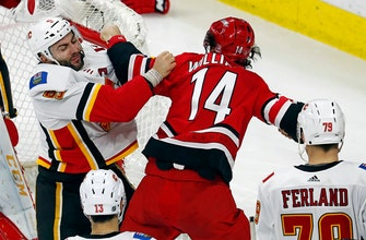 Flames beat Hurricanes 4-1 for 7th straight win