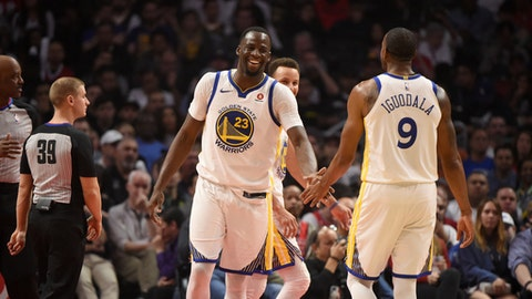 Draymond, Iguodala out for Warriors' game vs Bulls