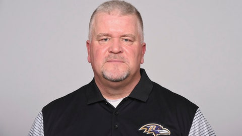 FILE - This is a 2017, file photo showing Don Martindale of the Baltimore Ravens NFL football team. Martindale wondered if he would ever get a second chance to be an NFL defensive coordinator after his one-and-done disaster with the Denver Broncos in 2010. He latched on with the Ravens in 2012 as linebackers coach. After working diligently with several stars, including Ray Lewis, Terrell Suggs, Zachary Orr and C.J. Mosley, the 54-year-old Martindale last week was promoted to defensive coordinator. (AP Photo/File)