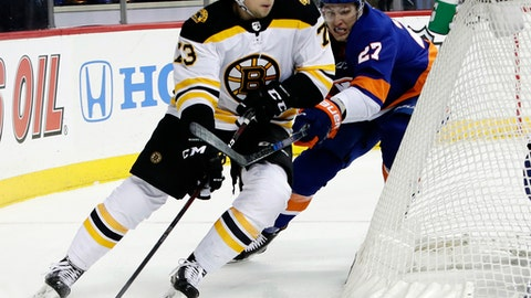 Bruins' McAvoy to miss two weeks with abnormal heart rhythm
