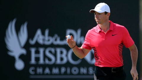 Fisher, Pieters share Abu Dhabi lead with McIlroy on their heels