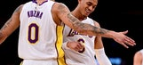 Lakers run past Knicks late for 6th win in 8, 127-107