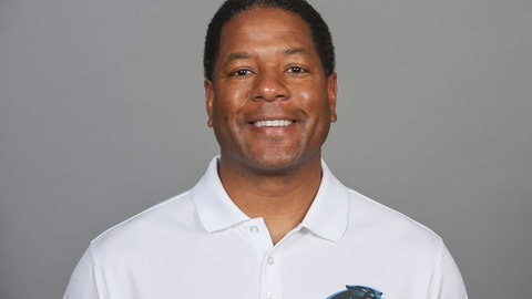 FILE - This is a 2016, file photo showing Steve Wilks of the Carolina Panthers NFL football team. Wilks is the new head football coach of the Arizona Cardinals. The Cardinals announced Monday, Jan. 22, 2018, that the 48-year-old Carolina Panthers defensive coordinator had agreed to a four-year contract with a team option for a fifth. (AP Photo/File)