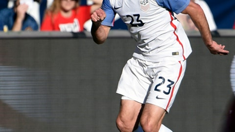 FILE - In this Jan. 29, 2017, file photo, United States' Chris Pontius (23) plays during a friendly soccer match against Serbia, in San Diego. Midfielder Kenny Saeif will miss the CONCACAF Gold Cup because of a groin injury and will be replaced by Chris Pontius on the U.S. roster. (AP Photo/Denis Poroy, File)