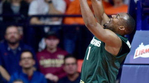 Michigan State guard Joshua Langford (1) dunks during the first half of an NCAA college basketball game against Illinois Monday, Jan. 22, 2018, in Champaign, Ill. (AP Photo/Stephen Haas)