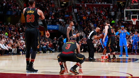 Thunder Blowout Cavs in Cleveland