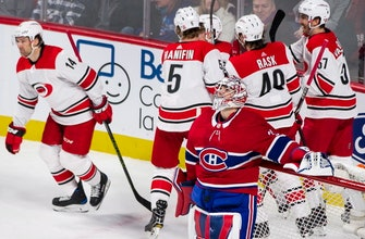 Teravainen has 2 goals, assist as Hurricanes edge Canadiens (Jan 25, 2018)