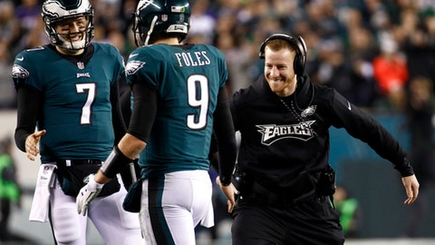 Wentz remaining upbeat during Super Bowl week despite injury