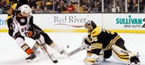 Ducks stop Bruins' point streak at 18 games with 3-1 win