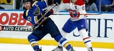 Hutton continues to roll, Blues shut down Canadiens 3-1
