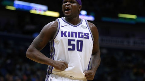 NEW ORLEANS, LA - JANUARY 30: Zach Randolph #50 of the Sacramento Kings reacts during the second half against the New Orleans Pelicans at the Smoothie King Center on January 30, 2018 in New Orleans, Louisiana. NOTE TO USER: User expressly acknowledges and agrees that, by downloading and or using this photograph, User is consenting to the terms and conditions of the Getty Images License Agreement.  (Photo by Jonathan Bachman/Getty Images)