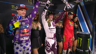 Savatgy & McElrath win 250 main events at Anaheim 2 | 2018 MONSTER ENERGY SUPERCROSS