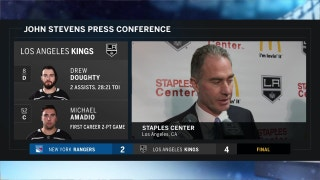 LA Kings' John Stevens: 'It was really impressive how we could fight back'