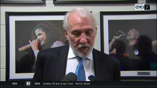 Classic Pop after the 100-95 win in Brooklyn