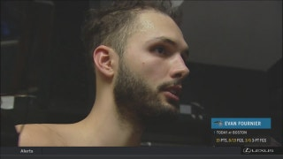 Evan Fournier likes how hard Magic are competing