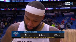 Boogie puts on his cape, after Pels defeat Bulls