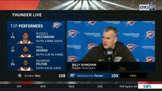 Billy Donovan: 'I thought this was one of the best wins we had all year'