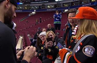 Ducks' Ryan Kesler meets biggest Ryan Kesler fan in all of Vancouver