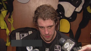LA Kings' Anze Kopitar on Saturday's loss to Anaheim: 'There were three fights in a row so people got fired up pretty quick.'