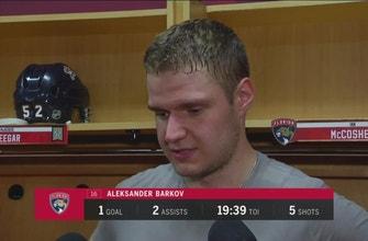 Aleksander Barkov on his 3-point night against Vegas