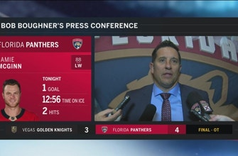 Bob Boughner thought Panthers' start played big role Friday