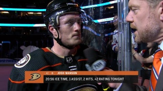 Ducks' Josh Manson on what went right in Tuesday's victory over Rangers