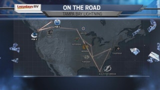 Plenty of miles await Lightning on upcoming road trip