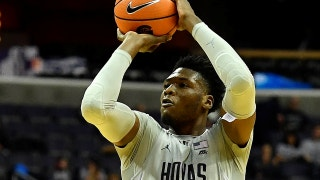 Marcus Derrickson's 27 points lift the Georgetown Hoyas to a double OT victory over St. John's, 93-89
