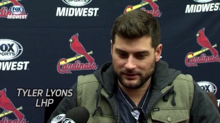 Cardinals P Tyler Lyons: 'I've become a pretty good swaddler'