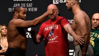 Daniel Cormier and Volkan Oezdemir face-off | WEIGH-IN | UFC 220