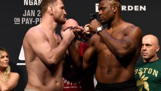 Stipe Miocic and Francis Ngannou face-off | WEIGH-IN | UFC 220
