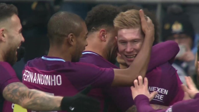 Kevin De Bruyne scores beautiful free kick against Cardiff | 2017-18 FA Cup