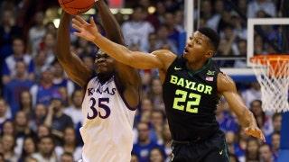 No. 10 Kansas hangs on to beat Baylor 70-67