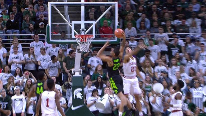 Miles Bridges throws down vicious tomahawk dunk against Indiana