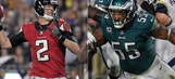 The defining numbers for Falcons and Eagles' divisional round matchup
