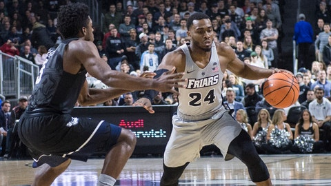 Jan 15, 2018; Providence, RI, USA; Providence Friars guard Kyron Cartwright (24) dribbles the ball against Butler Bulldogs guard Kamar Baldwin (3) at Dunkin Donuts Center. Mandatory Credit: Gregory J. Fisher-USA TODAY Sports